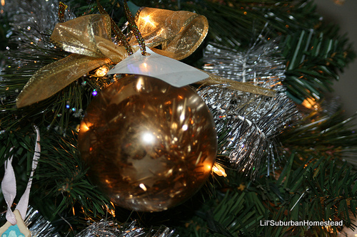 gold and copper ornaments