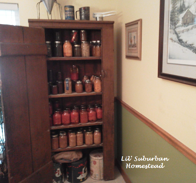 Sometimes ... - Primitive Canning Pantry Cupboard - Happy Early Christmas To Us