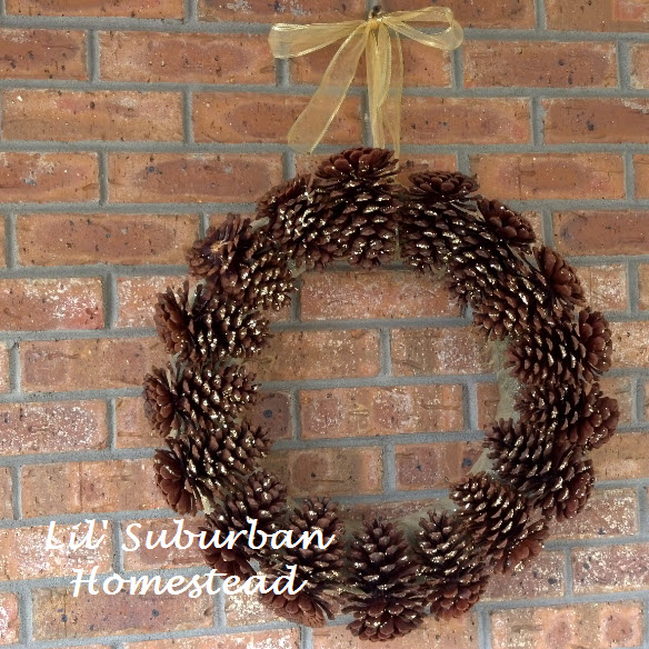 pinecone wreath, diy