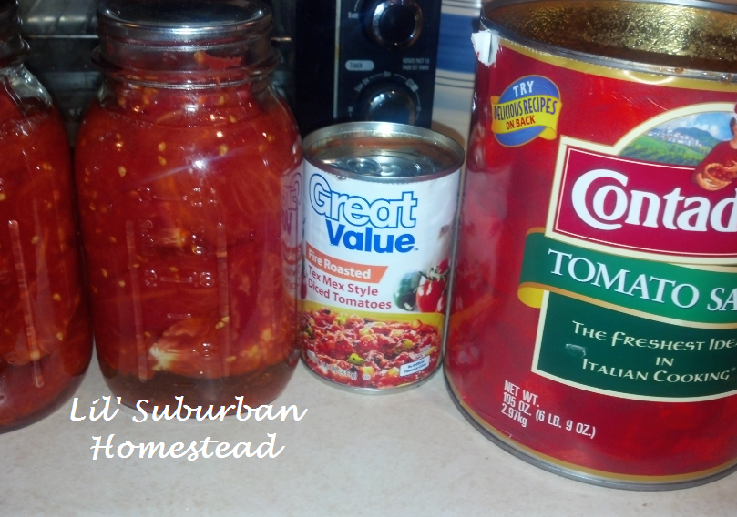 soup base, canned tomatoes