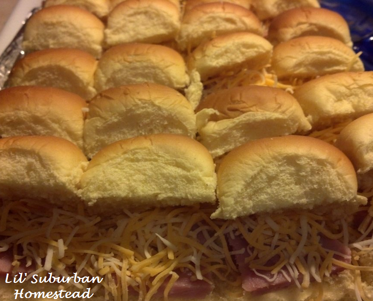rolls layered with cheese